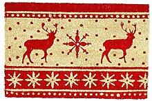 Kokos Fußmatte Nordische Weihnachten 40 x 60 cm
