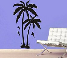 Kokospalme Baum Aufkleber Mit Möwe Vögel