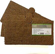 Kokosscheibe Kübelabdeckung Pflanzenschutz Winterschutz für Topfpflanzen (38 x 38 cm x 3) quadratisch