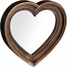 Kole Antik Bronze Herzform Spiegel