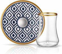 Koleksiyon Teeglas und Unterteller mit