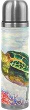 Kolibris Garten-Thermosflasche aus Edelstahl,