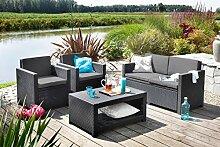 Koll Living Lounge Set Korsika in anthrazit, inkl.