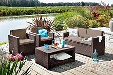 Koll Living Lounge Set Korsika in braun, inkl.