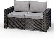 Koll Living Lounge-Sofa, 2-Sitzer, anthrazit,