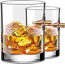 Kollea Set Whisky Gläser,2 Whisky Glas - Whiskey