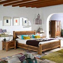 Kolonial Bett 180x200 Natur Bambus-Bett