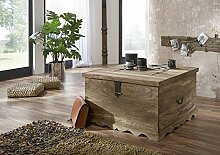 Kolonialart Massivholz Möbel Palisander grau Truhe Sheesham geölt massiv Möbel Robin #31