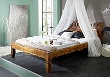 Kolonialstil Bett 120x200 honig Akazie massiv Holz OXFORD #220