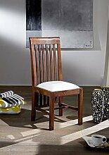 Kolonialstil Stuhl Polster weiß Akazie massiv Möbel BANGALORE #7 OXFORD