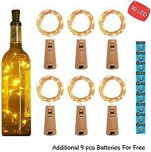 kolpop 3m 30 LED Flaschenlicht Batterie (6