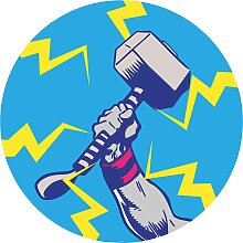 Komar Fototapete Avengers Thor's Hammer Pop