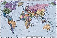 Komar Fototapete Bildtapete Weltkarte 270x188