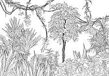 Komar Fototapete Blanca, floral-Wald-natürlich