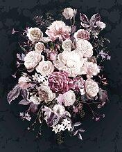 Komar Fototapete Bouquet Noir, bedruckt-floral