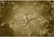 Komar FOTOTAPETE Gold , Gold , Papier , Floral ,