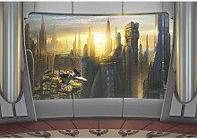 Komar FOTOTAPETE, Grau, Papier, Skyline, 368x254 cm
