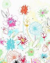 Komar Fototapete Joyful, bedruckt-floral B/L: 2 m