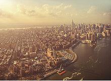 Komar FOTOTAPETE Manhattan , Braun, Grau , Papier