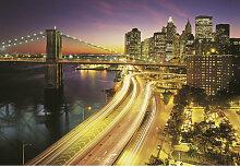 Komar FOTOTAPETE NYC Lights , Mehrfarbig , Papier