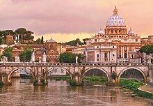 Komar Fototapete Rome, bedruckt-Wald-geblümt,