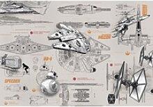 Komar Fototapete Star Wars Blueprints 368 cm x 254