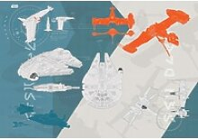 Komar Fototapete STAR WARS Technical Plan 368 cm x