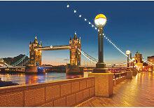 Komar FOTOTAPETE Tower Bridge , Mehrfarbig ,