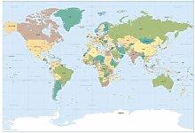 Komar Fototapete Worldmap