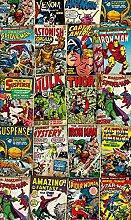 Komar - Marvel - Vlies Fototapete COVER RETRO -