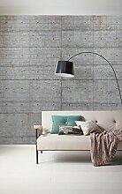 Komar - Vlies Fototapete CONCRETE BLOCKS  - 300 x
