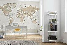Komar Vlies Fototapete Earth Map - Größe: 350 x