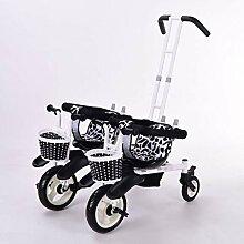 Kombikinderwagen Doppel Dreirad Kinderwagen Doppel