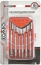 KOMBO GBT054 Präzisionsset 6 Stück 4 Schlitze