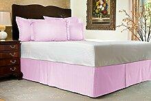 Komfort Bettwäsche 600tc 1Bett Rock Euro Double IKEA Größe 100% ägyptische Baumwolle Streifen, rose, Euro Double IKEA