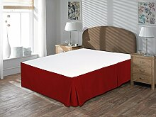 Komfort Bettwäsche 600tc 1Bett Rock Kaiser Größe 100% ägyptische Baumwolle massivem, burgunderfarben, Emperor