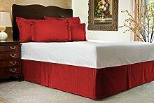 Komfort Bettwäsche 600tc 1Bett Rock Kaiser Größe 100% ägyptische Baumwolle Streifen, burgunderfarben, Emperor