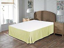 Komfort Bettwäsche 600tc 1, Bett Rock Kleine Doppelbetten 100% ägyptische Baumwolle massivem, Elfenbeinfarben, Kleines Doppelbe
