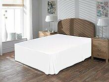 Komfort Bettwäsche 600tc 1Bett Rock Single Größe 100% ägyptische Baumwolle massiv, weiß, Einzelbe