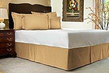 Komfort Bettwäsche 600tc 2pc Kissen Fall UK Doppelbett 100% ägyptische Baumwolle Stripe, taupe, UK Double size