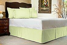 Komfort Bettwäsche 600tc 3-teiliges Bett Rock Kleine Doppelbetten 100% ägyptische Baumwolle Streifen, Elfenbeinfarben, Kleines Doppelbe