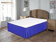 Komfort Bettwäsche 600tc 3-teiliges Bett Rock UK Doppelbett Größe 100% ägyptische Baumwolle massiv, Egyptian Blue, UK Double size