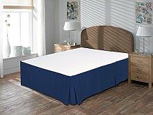 Komfort Bettwäsche 600tc 3-teiliges Bett Rock UK Super King Size 100% ägyptische Baumwolle massiv, Nevy Blue, UK Super King