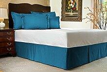 Komfort Bettwäsche 650tc 1Bett Rock 100% ägyptische Baumwolle Streifen, Türkis / Blau, Kleines Doppelbe