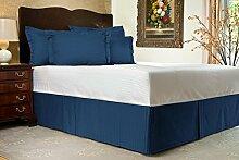 Komfort Bettwäsche 650tc 1Bett Rock 100% ägyptische Baumwolle Streifen, Nevy Blue, Euro KingIKEA