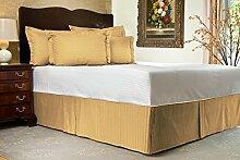Komfort Bettwäsche 650tc 1Bett Rock 100% ägyptische Baumwolle Streifen, gold, Einzelbe