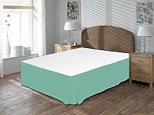Komfort Bettwäsche 650tc 3-teiliges Bett Rock 100% ägyptische Baumwolle massiv, aqua blue, Kleines Doppelbe