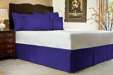 Komfort Bettwäsche 650tc 3-teiliges Bett Rock 100% ägyptische Baumwolle Streifen, Egyptian Blue, UK Double size