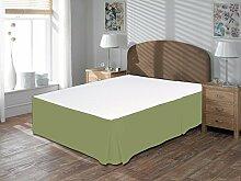 Komfort Bettwäsche 650tc 3-teiliges Bett Rock 100% ägyptische Baumwolle massiv, Moosgrün, UK Double size