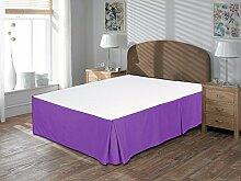 Komfort Bettwäsche 650tc 3-teiliges Bett Rock 100% ägyptische Baumwolle massiv, violett, Euro KingIKEA